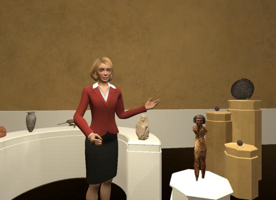 """Erster Entwurf für einen virtuellen Ausstellungsraum im Projekt """"Museum Virtuell"""""""